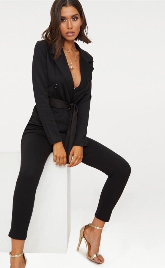 Woman in black blazer