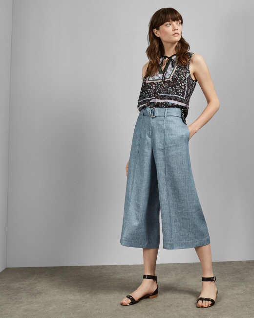 Ted Baker Paperbag Trousers Blue