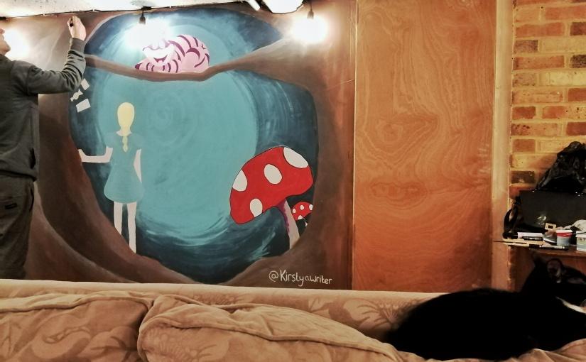 Interior Design | Cat Cafe Alice In Wonderland WallMural